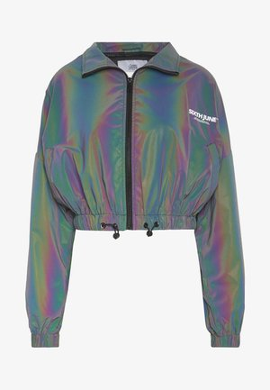 CROPPED IRIDESCENT JACKET - Kurtka sportowa - black