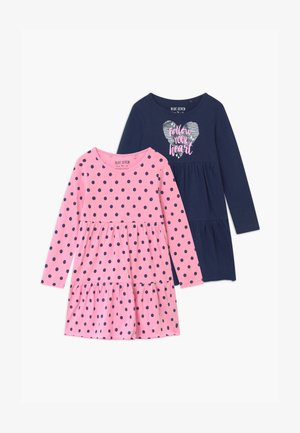 GIRLS STYLE 2 PACK - Vestito di maglina - dark blue