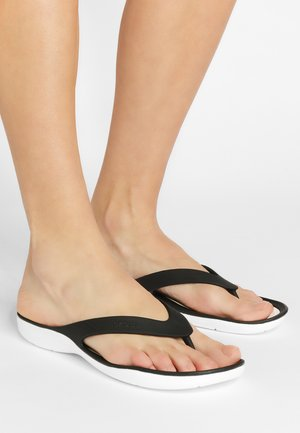 SWIFTWATER - Teenslippers - black/white