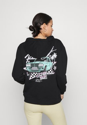 RACE CLUB 92 OVERSIZED HOODIE - Sweatshirt - black