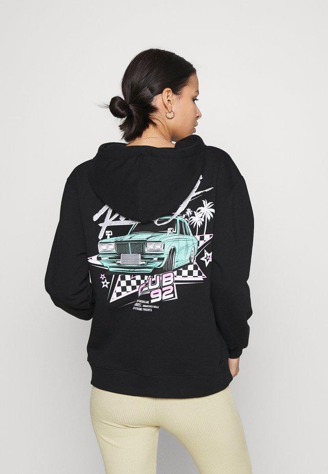 RACE CLUB 92 OVERSIZED HOODIE - Sweater - black