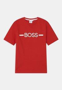 BOSS - SHORT SLEEVES - Print T-shirt - bright red - 0