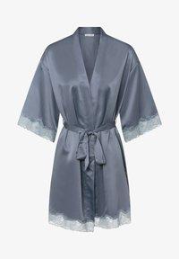 OYSHO - MIT SPITZE - Dressing gown - dark blue - 3