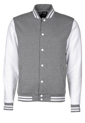 CONTRAST COLLEGE - Lehká bunda - grey/white