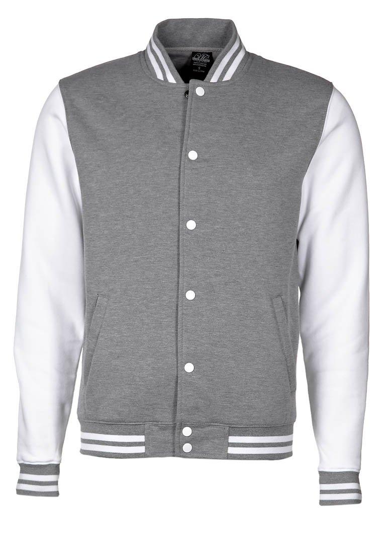 Color Industry - CONTRAST COLLEGE - Lehká bunda - grey/white