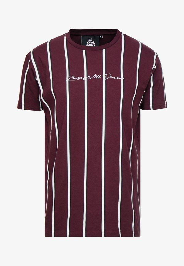 Kings Will Dream T-shirt z nadrukiem - burgundy/white/navy/bordowy Odzież Męska JFPT