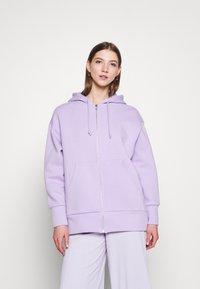 Monki - JOA HOODIE - Zip-up sweatshirt - lilac purple light - 0