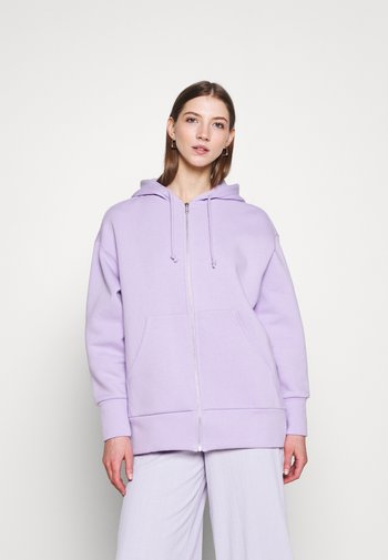 JOA HOODIE - Zip-up hoodie - lilac purple light