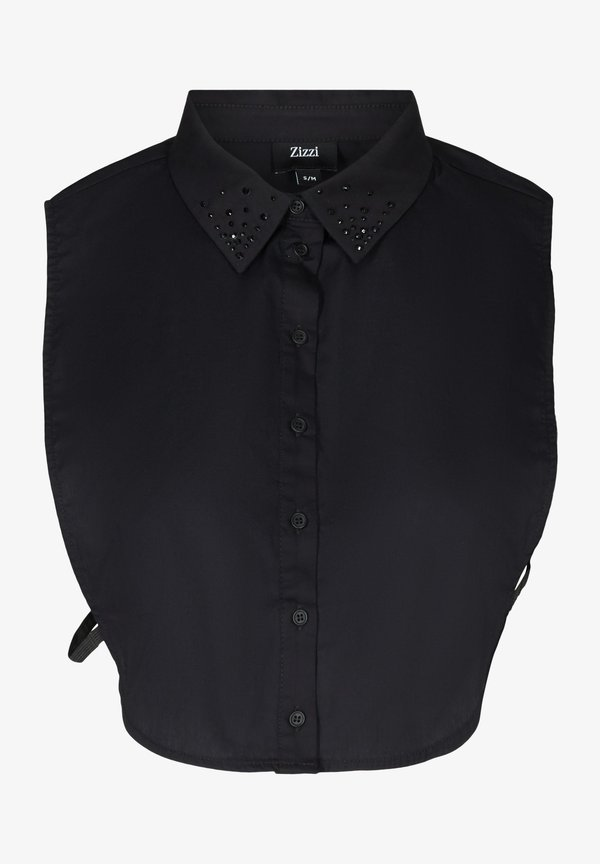 Zizzi MIT STEINEN - Koszula - black/czarny CPTV
