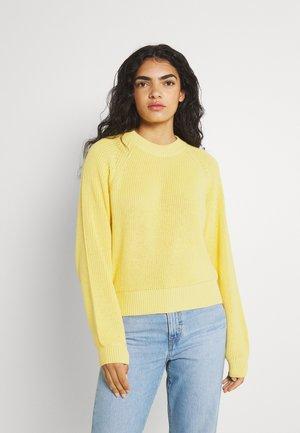 VOLUME SLEEVE JUMPER  - Sweter - light yellow