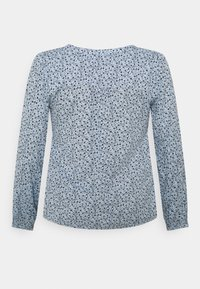 Kaffe Curve - BIRNE AMI BLOUSE - Long sleeved top - chambray blue - 1