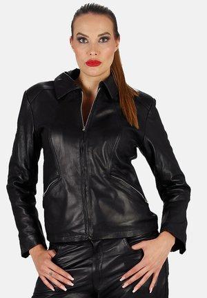 BLOUSON - Leather jacket - schwarz