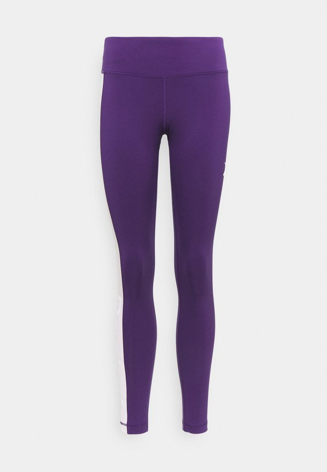 LINEAR LOGO - Leggings - dark orchid