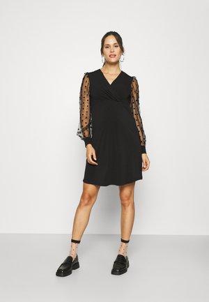OLMJENNY WRAP DRESS - Jurk - black