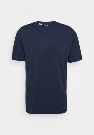 SLHLOOSEGILMAN O NECK TEE - T-paita - navy blazer