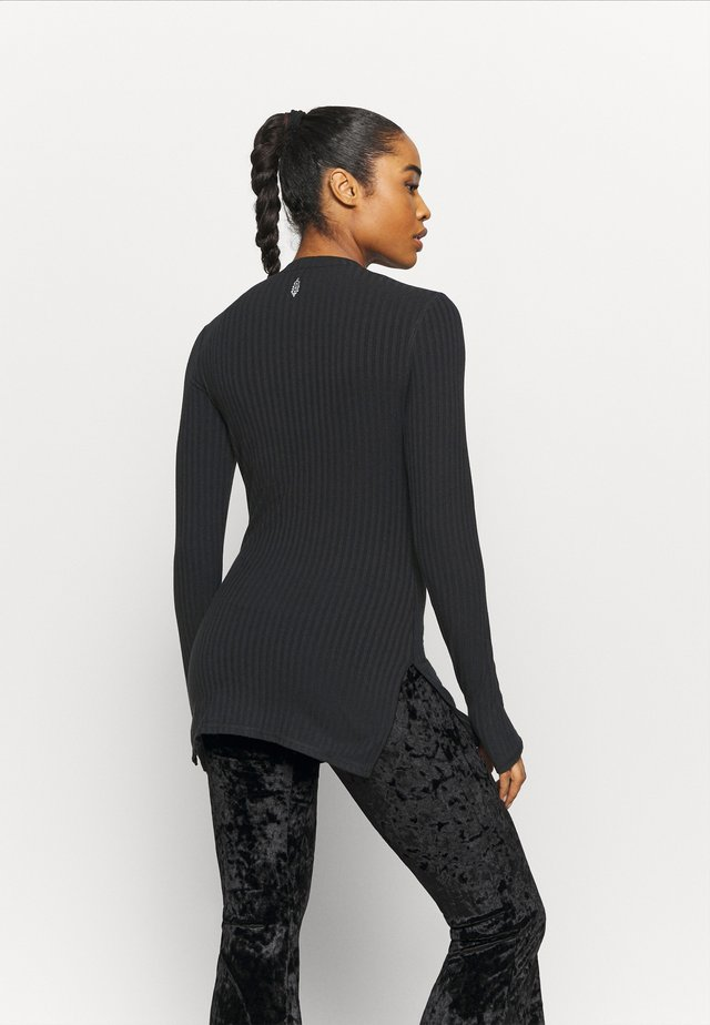 BLISSED OUT LONG SLEEVE - Maglietta a manica lunga - black