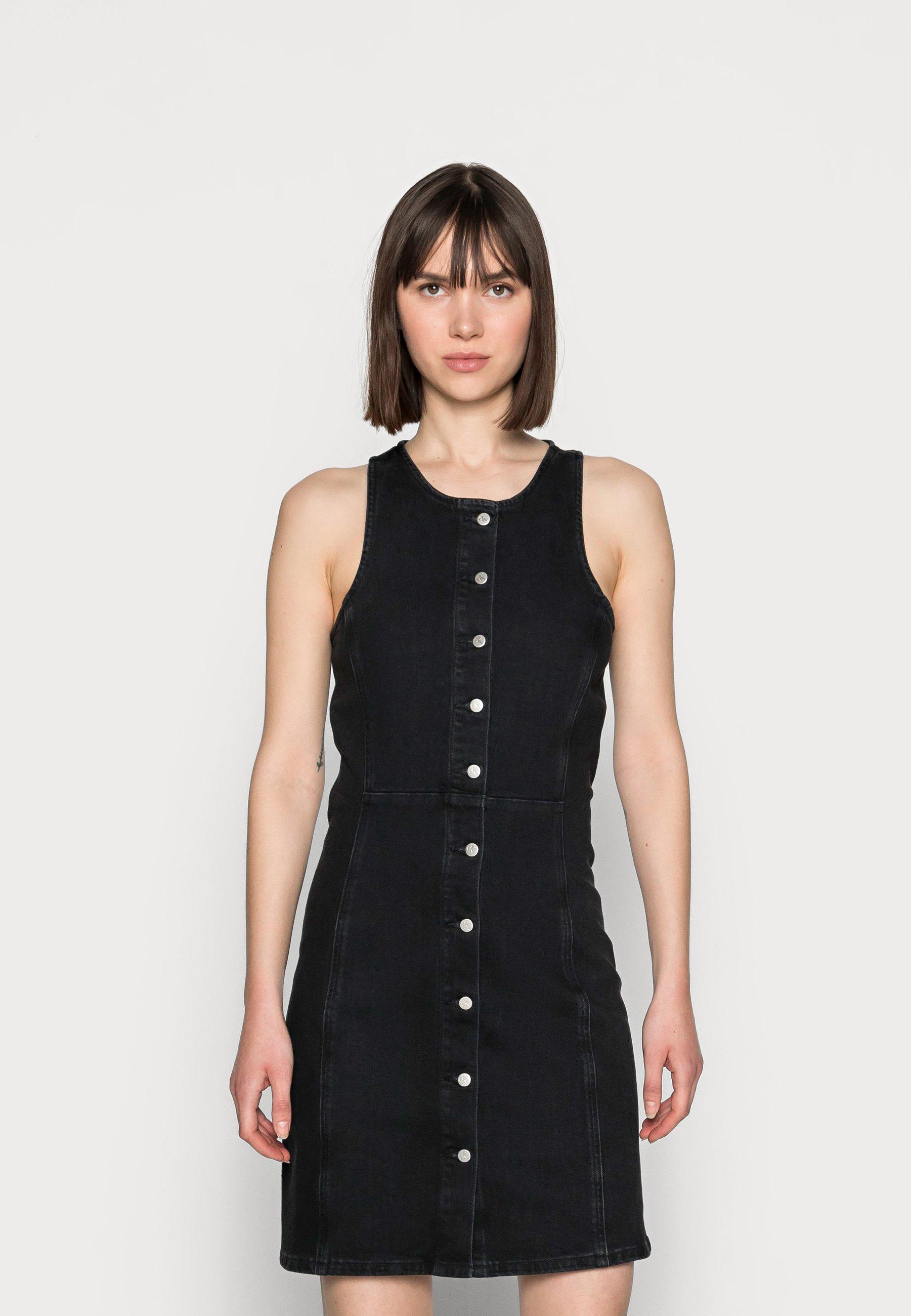 Damer SEAMED BODYCON DRESS - Jeanskjole / cowboykjoler