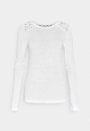 ONLNICOLE LIFE NEW MIX  - Long sleeved top - cloud dancer