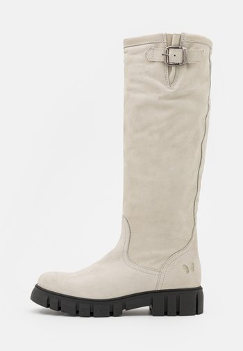 SAURA - Platform boots - pacifico/off white