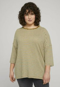 MY TRUE ME TOM TAILOR - MIT STREIFEN - Long sleeved top - ecru umber stripe - 0