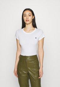 G-Star - EYBEN SLIM 2 Pack - T-shirt basic - black/white - 3