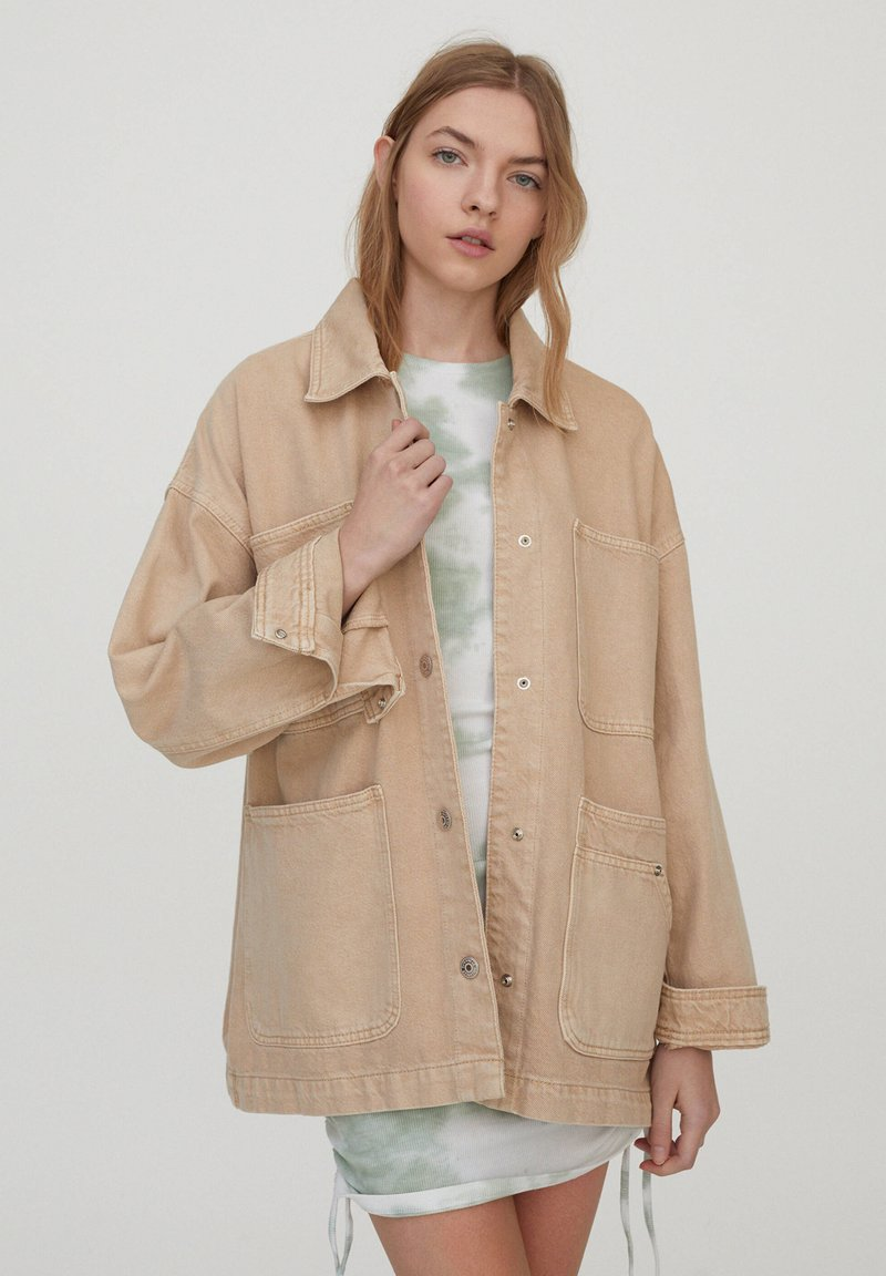 PULL&BEAR - Denim jacket - beige