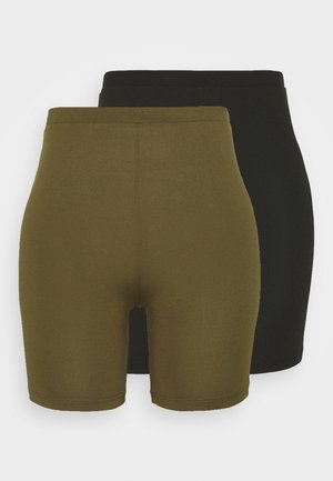VIBE BIKER 2 PACK - Shorts - black/dark olive