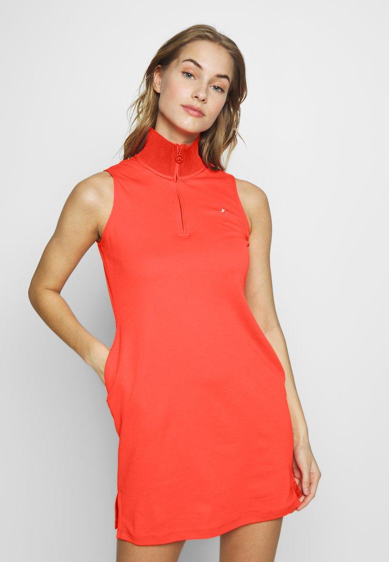 J.LINDEBERG - ELSA SET - Žerzejové šaty - tomato red