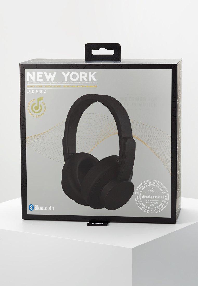 Urbanista NEW YORK NOISE CANCELLING BLUETOOTH - Hodetelefoner - dark clown black/svart MH8hHbruzbF10gh