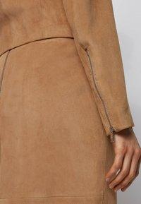 BOSS - Leather jacket - beige - 4