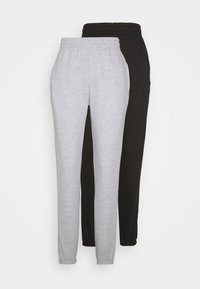 Missguided Tall - BASIC JOGGER 2 PACK - Tracksuit bottoms - black/grey - 0