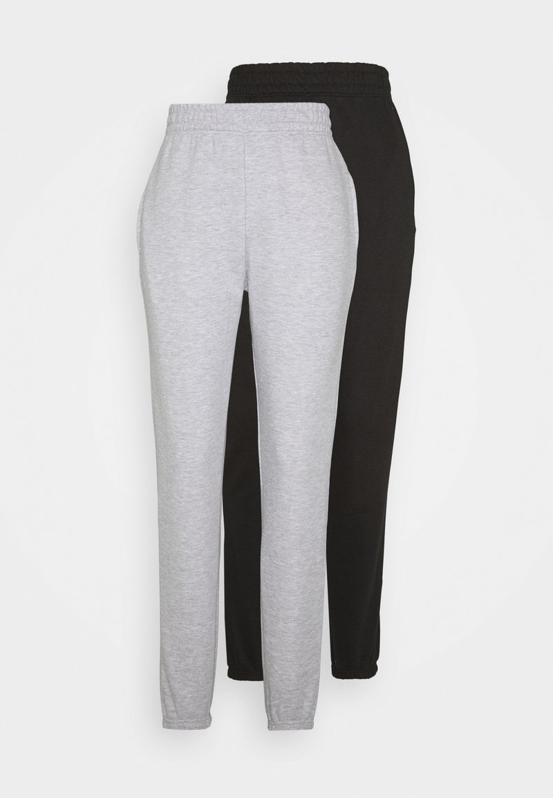 Missguided Tall - BASIC JOGGER 2 PACK - Tracksuit bottoms - black/grey