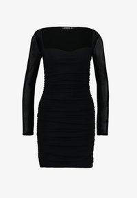 Missguided - SQUARE NECK BODYCON MINI DRESS - Robe fourreau - black - 4