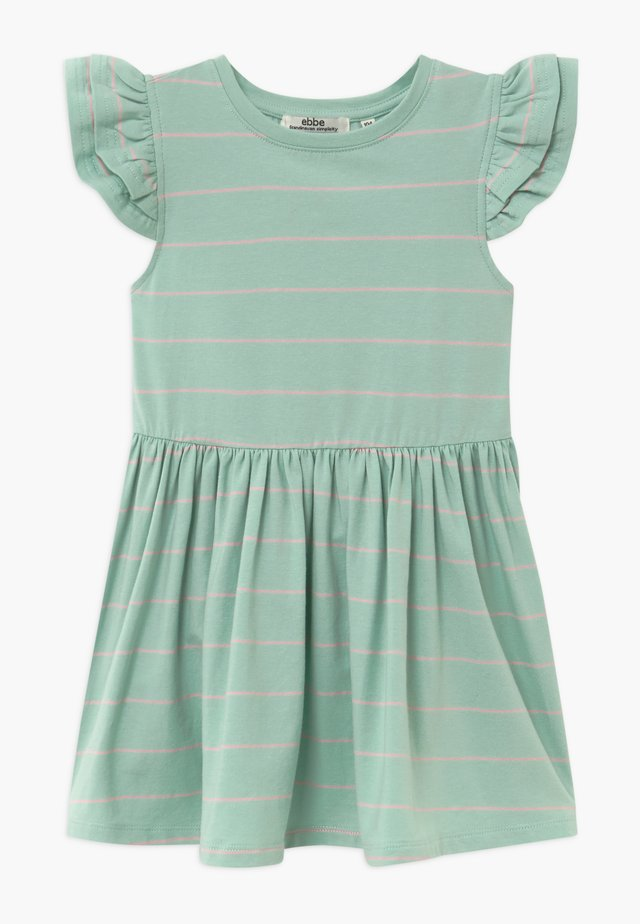 NICOLETTE - Jersey dress - mint/bubble pink