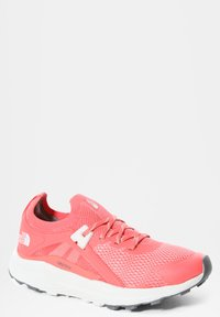 The North Face - W VECTIV HYPNUM - Hiking shoes - fiesta red/tin grey - 4