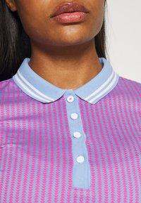 Kjus - WOMEN ELLA STRUCTURE - Polo shirt - pink divine/vista blue - 3