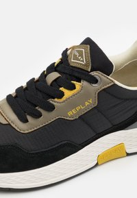 Replay - STONE MAN - Sneakers laag - black/military green/yellow - 5