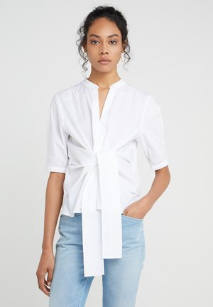 AYAKA TIE FRONT SOLID - Blůza - white