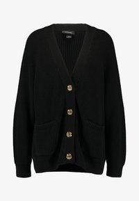 Monki - MARIA CARDIGAN - Kardigan - black dark turtoise buttons - 4