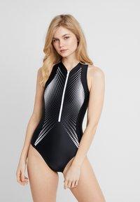 Zoggs - CUMA ZIP SUIT - Swimsuit - multi/black - 1