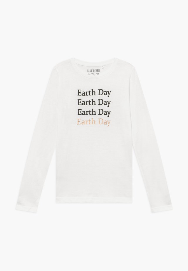 TEENS EARTH DAY - T-shirt à manches longues - offwhite