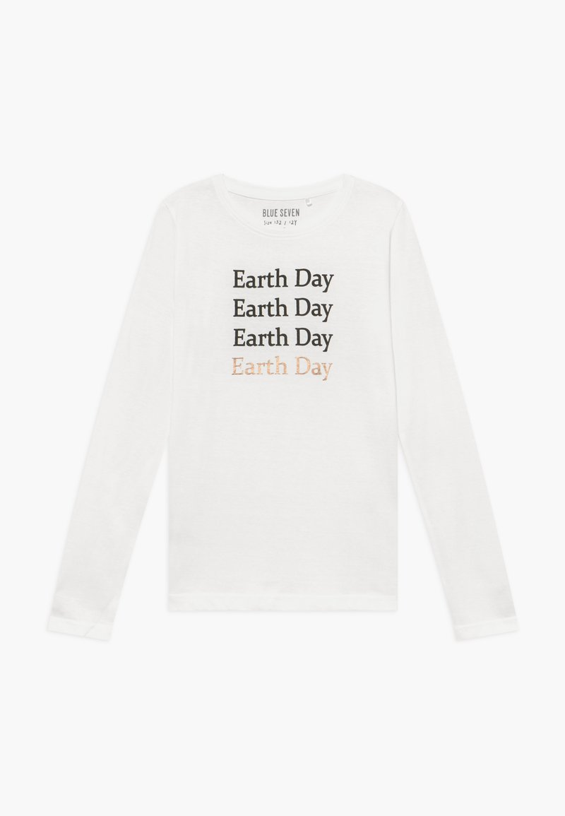 Blue Seven - TEENS EARTH DAY - Maglietta a manica lunga - offwhite