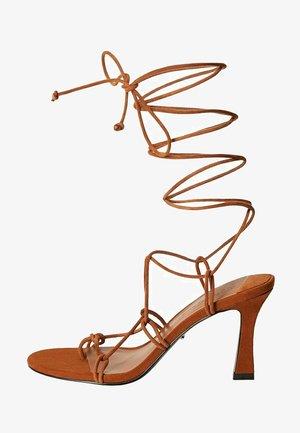 TUBO - Ankle cuff sandals - mittelbraun