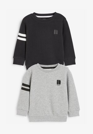 2 PACK STRIPE - Sweatshirt - black
