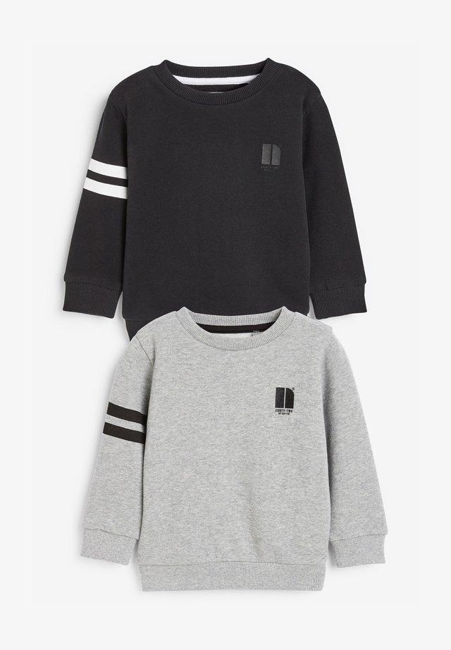 2 PACK STRIPE - Sweatshirts - black