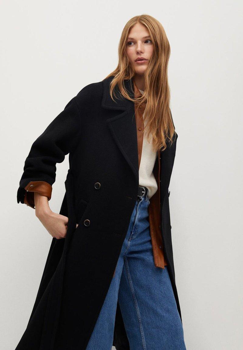 Mango - TRINI - Classic coat - schwarz