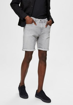 JEANSSHORTS SUPERSTRETCH - Denim shorts - light grey denim