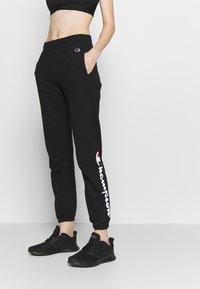 Champion Rochester - ELASTIC CUFF PANTS - Verryttelyhousut - black - 0