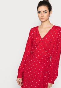 Gap Tall - WRAP DRESS - Korte jurk - red - 3