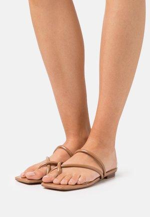 MOUNIS - T-bar sandals - light brown